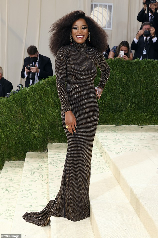 Familiar face: Pictured is Keke Palmer at the Met Gala this week