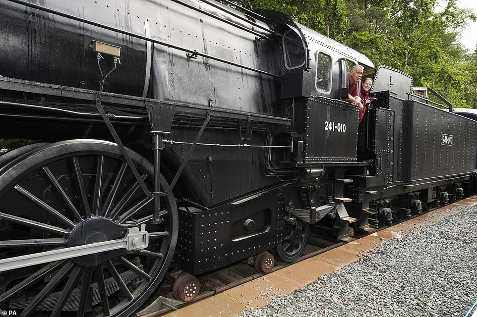 'We now have a train in a station that has not had one in it for 50 years and it's got a really good provenance and history,' said Di