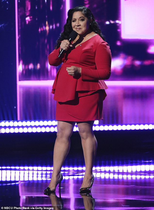 High praise: The judges heaped praise on Gina Brillon after her stand-up comedy routine