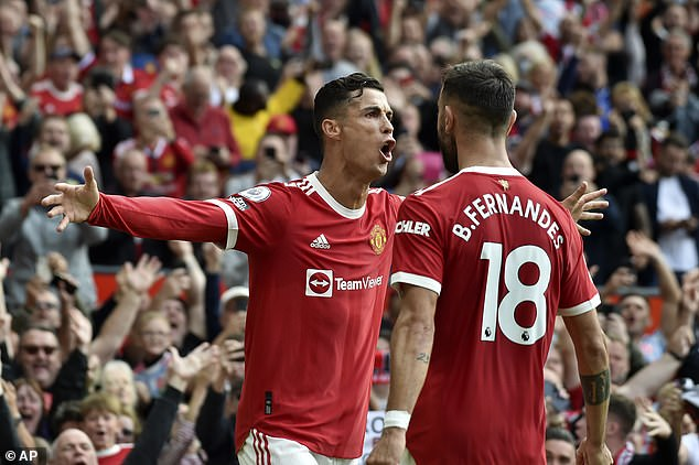 Ronaldo (left) has scored three goals already for United since his emotional homecoming