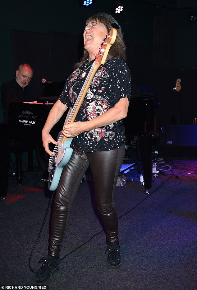 Party time:Suzie Quatro was also among those delivering short performances at the awards show