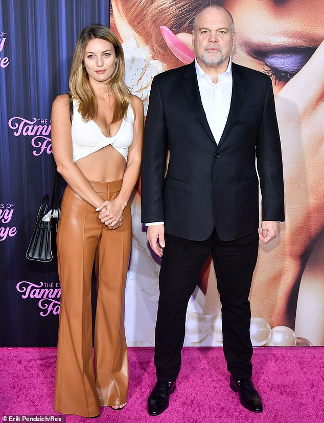 Dressed for the occasion: The Full Metal Jacket actor opted for a black suit and white shirt while his daughter wore a sleeveless top and light brown leather pants