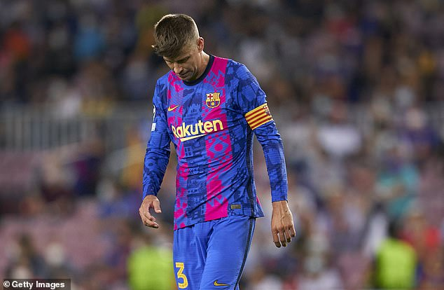 Pique (seen looking dejected during the game) delivered a downbeat assessment of the team
