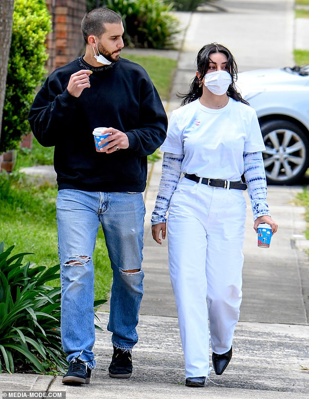 Stepping out: On Tuesday, Martha Kalifatidis showed off her slimmer figure as she stepped out with her personal trainer boyfriend Michael Brunelli in Sydney