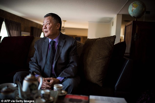 Wei Jingsheng (pictured) claims he took his concerns about the unfolding situation to senior figures within the Trump administration but was subsequently ignored