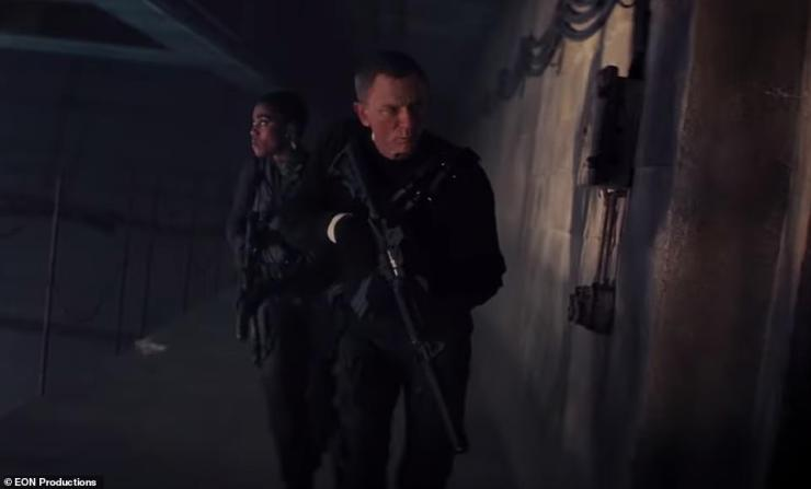 Mission: Meanwhile, Bond tells his MI6 team: 'If we don't do this there'll be nothing left to save,' as they fearlessly scale buildings and fire machine guns