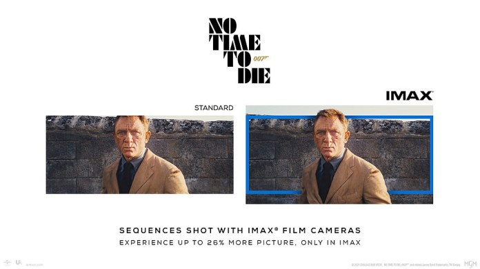 How does it matter?  This image shows standard footage compared to extended IMAX quality footage.