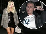 Georgia Toffolo makes a leggy display in leather dress as she heads home with her ex George Cottrell