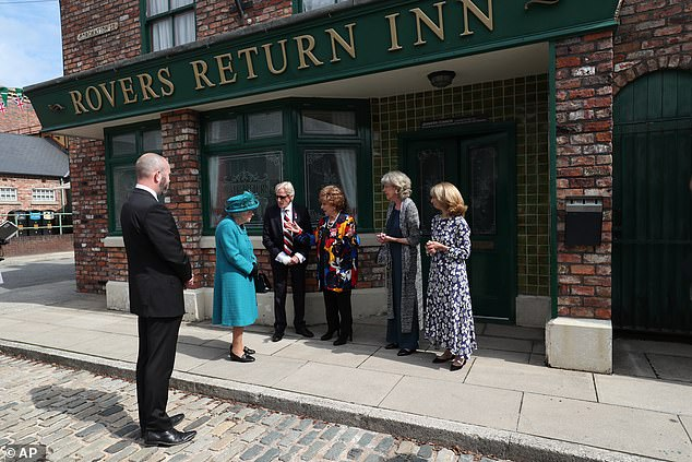 Her Majesty, 95, visited the Cobbles in July where she met the cast and crew of the long-running ITV show