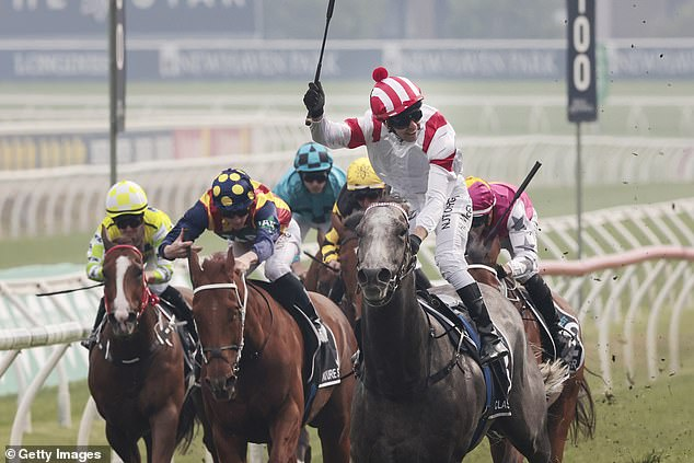 Pictured: Kerrin McEvoy on Classique Legend wins race 7 the TAB Everest during Sydney Racing at Royal Randwick Racecourse on October 17, 2020