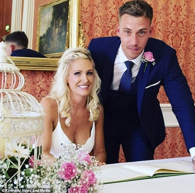 Added to the picture on their wedding day, a home test revealed that three years after having a vasectomy, Dan had a normal sperm count