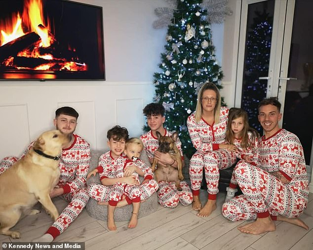 A family of seven is celebrating Christmas.  Mother Kate describes the chain of events that led to the birth of such a large family as 'absolutely insane'