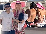 Corey Feldman steps out in Malibu with wife Courtney and they pack on the PDA during beach date