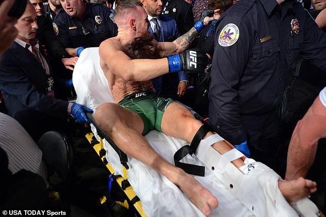 McGregor had sustainedcombined break of the tibula and fibula at the hands of Dustin Poirier