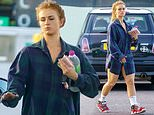 EastEnders' Maisie Smith dons oversized men's shirt and trainers as she swings by petrol station
