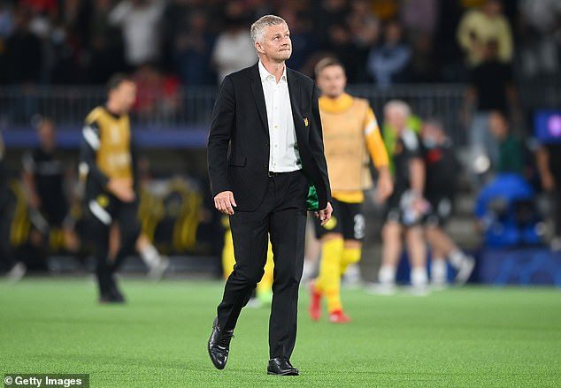 Ole Gunnar Solskjaer looks on frustrated after his side threw away a 1-0 lead on Tuesday night