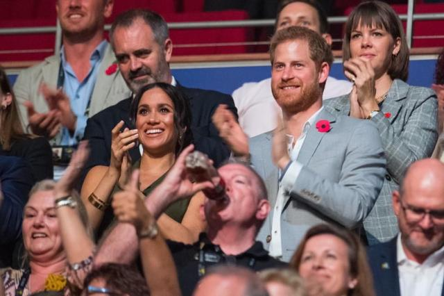 The Queen posted an image of Harry and Meghan at the Invictus Games in 2018 in their last engagement in Australia before heading to New Zealand