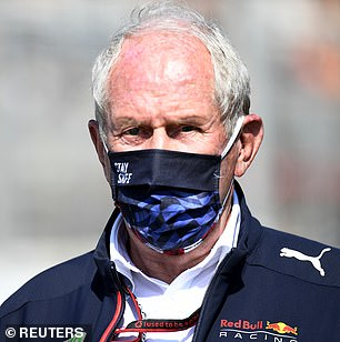 Red Bull consultant Helmut Marko (above) has accused Lewis Hamilton and his team of downplaying his injuries.  He believes Mercedes are 'pulling stories' making a 'show'