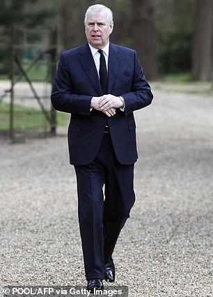 Prince Andrew in Windsor in April