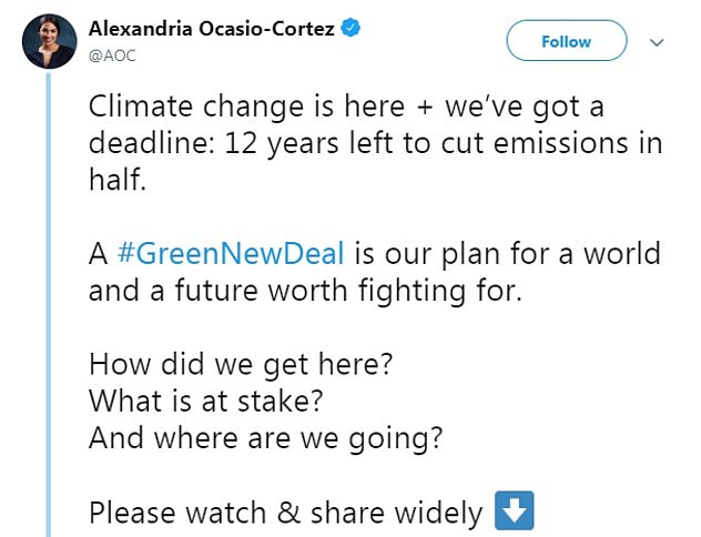 In 2019, AOC claimed we have 12 years left to save the world and address climate change before we are all doomed