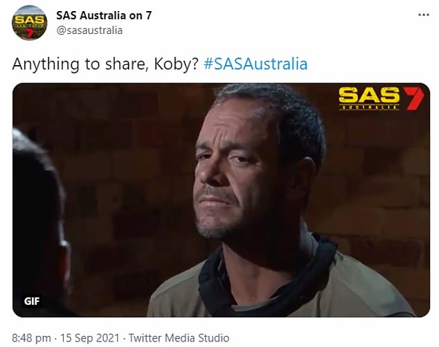 Gotcha! Koby soon changed his tune when the show's directing staff presented video evidence to the contrary - and SAS Australia viewers took to social media to vent about it.