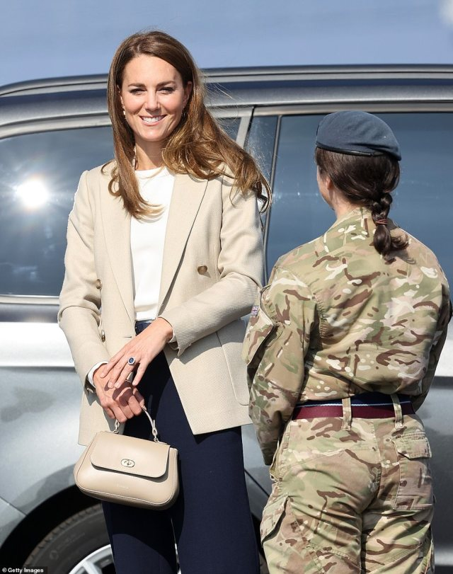 The Duchess is learning today about how more than 15,000 people were flown out of Kabul by the Royal Air Force