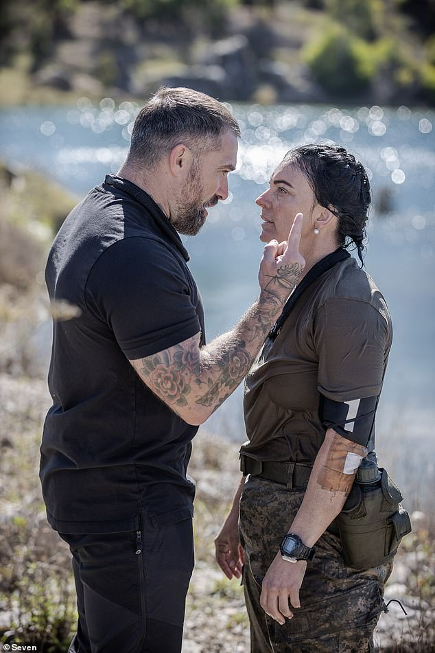 Exit: Emma has become the fourth recruit to voluntarily leave SAS Australia.  Pictured with DS chef Ant Middleton