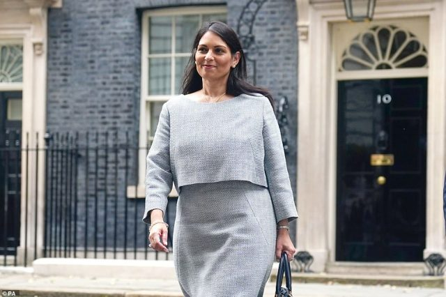 Priti Patel stays in post as Home Secretary in the revamped Cabinet moulded by Mr Johnson