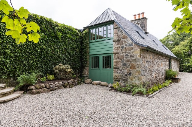 They dreamed of converting the Grade II-listed garden shed into a family home, while also adding on an enormous modern extension into the walled garden, all within 12 months and with a budget of just £350,000 (pictured, the finished bothy)