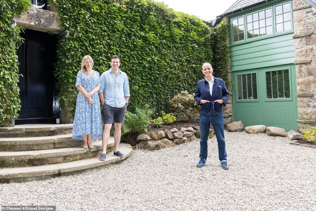 At one stage during the project, Jenny and her architect husband Iain confessed they were feeling pushed to the limit with stress (pictured, with Kevin McCloud)