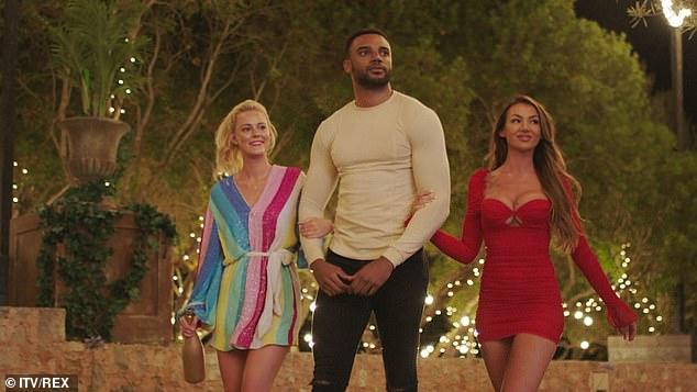 Newbies: Georgia , Tyler Cruickshank and Abigail Rawlings arriving into the villa