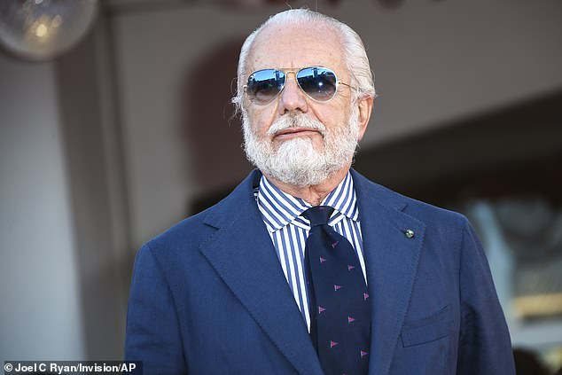 President Aurelio De Laurentiis paid tribute to the impact the 'mythical figure' had on the club