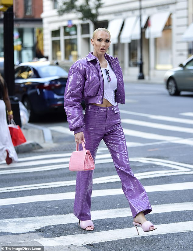 City slicker: Christine Quinn nailed street style as she stepped out on the Upper East Side of Manhattan on Tuesday afternoon