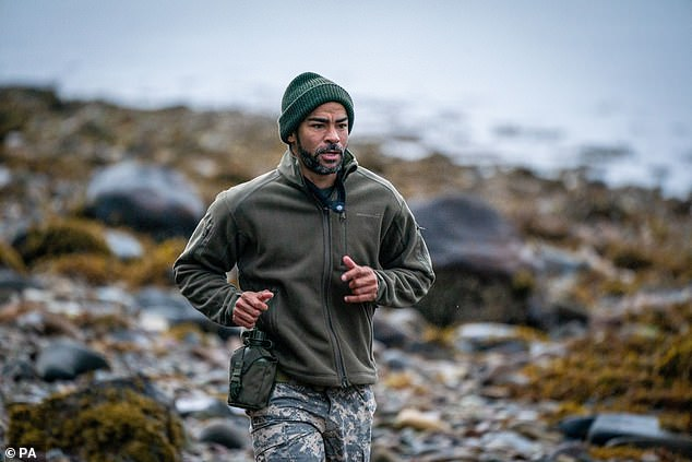 'I had to think I want to kill him': Kieron Dyer (pictured) viscously beats up SAS: Who Dares Wins instructor Jason 'Foxy' Fox during a challenge on Sunday's episode, according to reports
