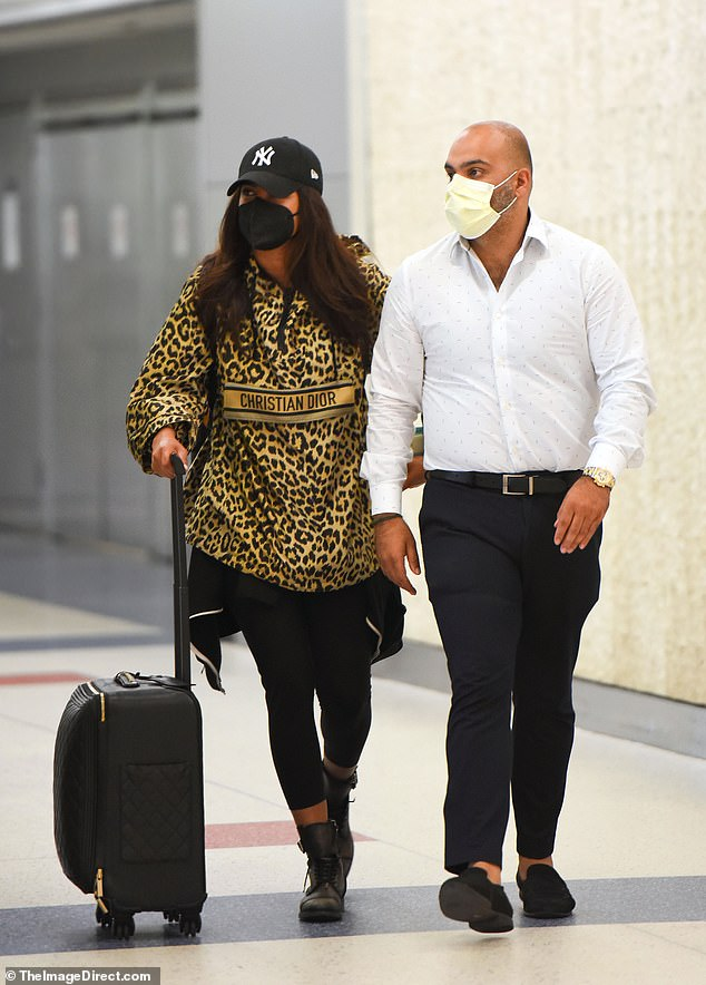 Home sweet home: Priyanka Chopra was spotted arriving at John F. Kennedy International Airport on Wednesday following backlash for her participation in the new reality television show, The Activist