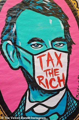A California-based street artist says that she created the ¿TAX THE RICH¿ design that Ocasio-Cortez wore on her expensive dress when she attended Monday¿s $35,000-per-ticket Met Gala in New York