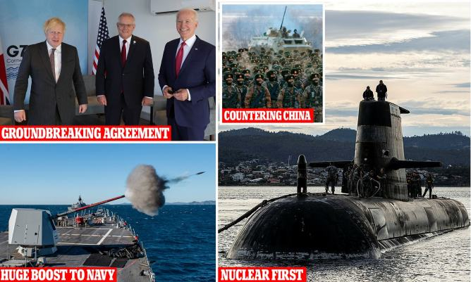 US President Joe Biden appears to forget Scott Morrison's name in nuclear submarines announcement   Daily Mail Online