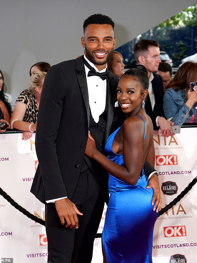 Preened to perfection:Nevertheless, the couple appeared on their best behaviour when they made their red carpet debut at the National Television Awards earlier this month