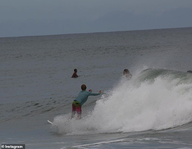 The clip showing the harrowing attack was recorded by Sam Scribner, a photographer who happened to be filming New Smyrna's waves