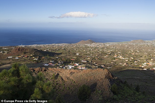Cumbre Vieja is an active although dormant volcanic ridge in the south of La Palma that has erupted twice in the 20th century