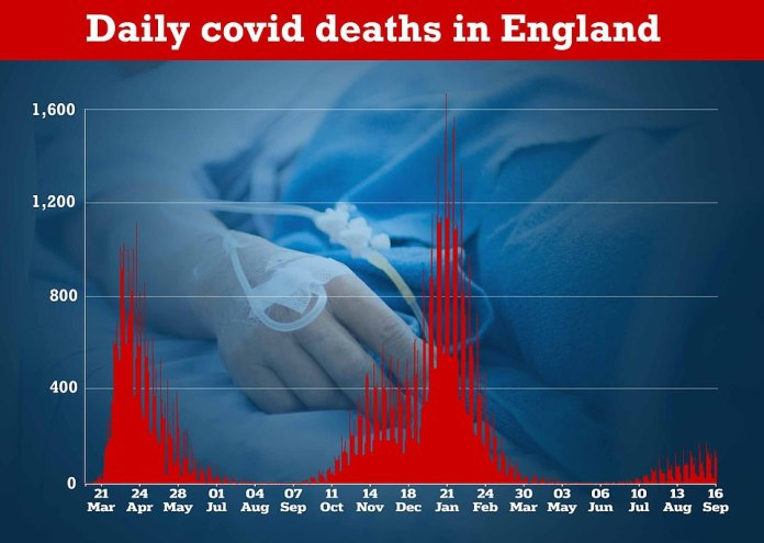 Deaths remain low despite high levels of transmission thanks to the rollout of vaccines