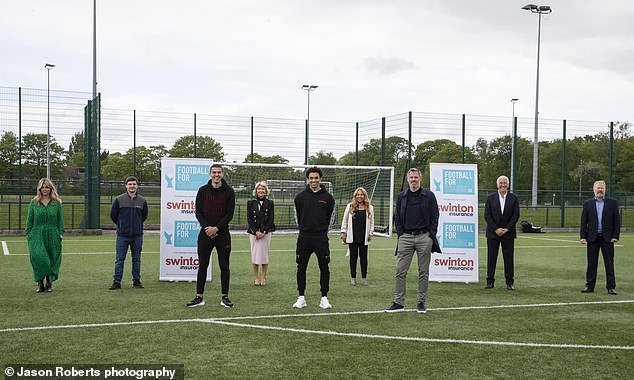 The footballers join business leaders in helping school leavers affected by poverty and economic disadvantage into education and employment