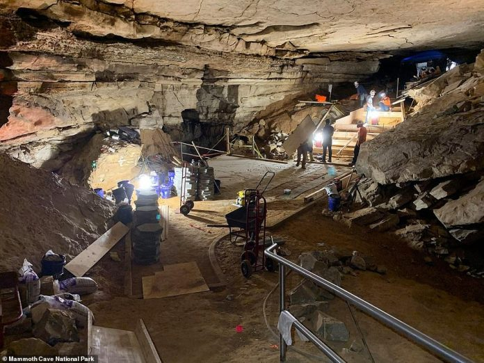 The added benefit was mapped and documented by members of the Cave Research Foundation (CFR), a non-profit organization, who trekked through an underground labyrinth of limestone caves.