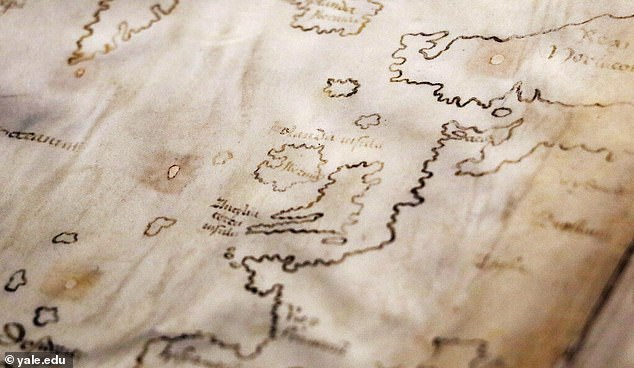 The Vinland Map, which shows a stretch of North America's coastline to the southwest of Greenland, is famous for having early imagery of the New World, but a new analyst suggests it may be 'in 20th-century ink. submerged'