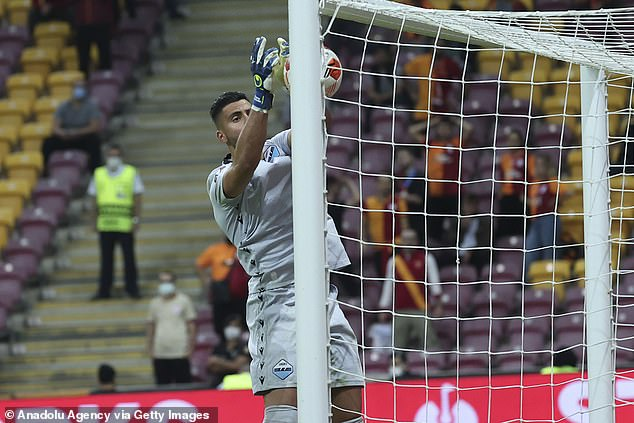 Strakosha palmed the ball into his own net in his side's 1-0 Europa League loss on Thursday