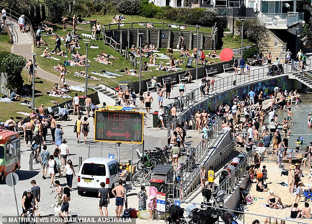 By contrast, Sydneysiders soaked in the sun at Bondi Beach over the weekend. Residents outside of the city's 12 LGAs of concern are living under lighter lockdown restrictions