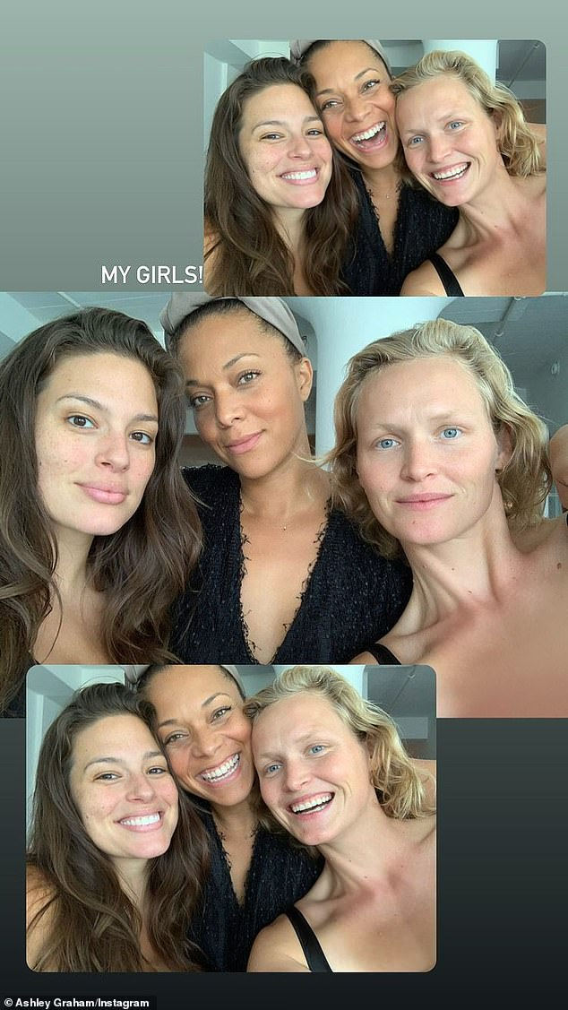 Girlfriends: Graham also shared some photos of two women she named