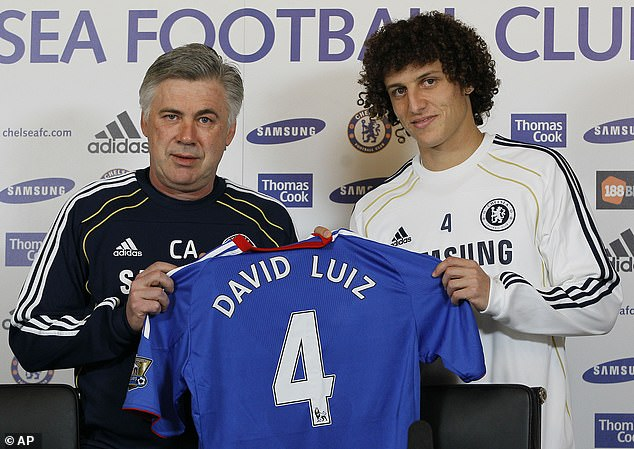 Ancelotti signed Brazilian defender Luiz in January 2011 when he was Chelsea manager