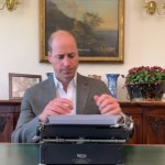 Prince William shares a video of himself using just one finger to type on a typewrite 💥👩💥