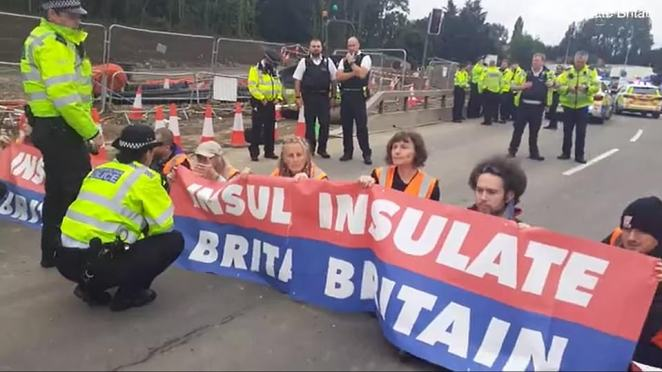 Priti Patel last night ordered police to take 'decisive action' against 'selfish' eco-warrior protesters who blocked Britain's busiest road twice in three days as the Met were accused of helping them